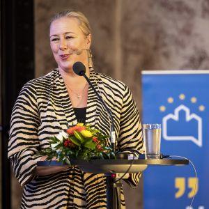 Komissaariehdokas Jutta Urpilainen oli eduskunnan suuren valiokunnan kuultavana Turun Eurooppa-foorumilla.