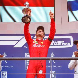 Lewis Hamilton, Charles Leclerc, Valtteri Bottas, Belgia 2019