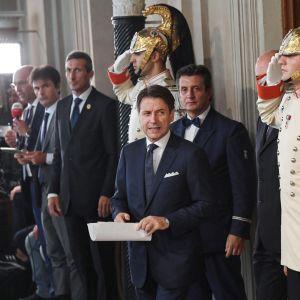 Italian pääministeri Giuseppe Conte kertoo uuden hallituksensa ministereistä.