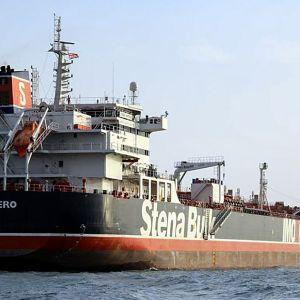 Kuvakaappaus Islamic Republic of Iran Broadcasting -yhtiön (IRIB) tv-lähetyksestä Stena Impero tankkerista 23. heinäkuuta.