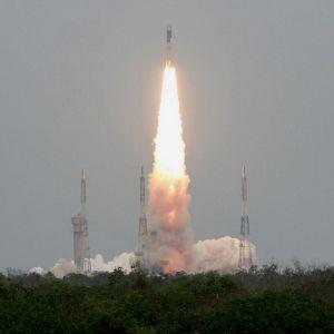 Intian kuuraketti laukaistiin matkaan heinäkuun 22. päivä Sriharikotassa, Intiassa.