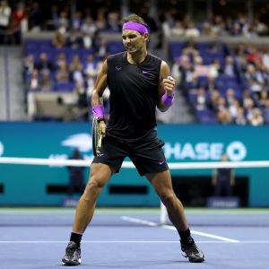 Rafael Nadal tuulettaa.