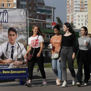 Paikallisvaalien mainontaa Moskovassa 6.9.2019.
