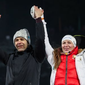 Ole Einar Björndalen ja Daria Domratsheva