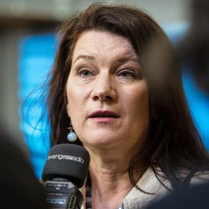 Ruotsin tuore ulkoministeri Ann Linde kuvattuna Brysselissä tammikuussa 2018.