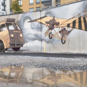 Muraali Härmälä Tampere seinämaalaus