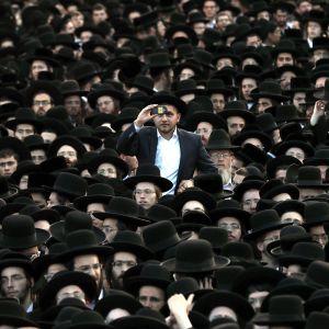 Ultraortodoksien vaalitilaisuus Israelissa 15. syyskuuta 2019.