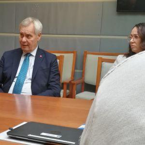 Pääministeri Antti Rinne vierailemassa Raumalla 23.9.2019
