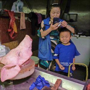 Sianlihan tukkumarkkinoita Pekingissä.
