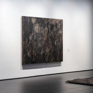 Taiteilija Hanna Vahvaselän teos Kuopion taidemuseon M_itä? Nykytaiteen biennaalissa.