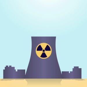 Animaatio, jossa vaaleanpunainen sydän kohoaa savun kera ydinvoimalan savupiipusta. Lopulta sydän räjähtää ja ydinvoimalan merkki putoaa maahan. Samalla kuva muuttuu mustavalkoiseksi.