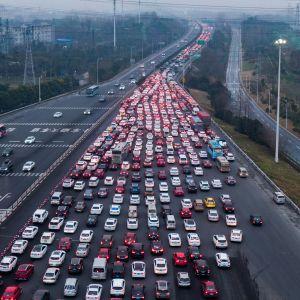 Liikennettä Kiinassa.