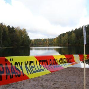 Puolustusvoimien eristämä Ahvenistonjärvi