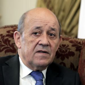 Ranskan ulkoministeri Jean-Yves Le Drian kuvattuna Kairossa, Egyptissä syyskuussa 2019.