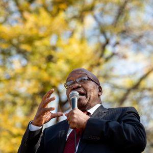 Jacob Zuma puhui kannattajilleen Johannesburgissa viime heinäkuussa.