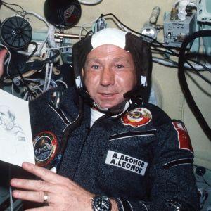 Aleksei Leonov Apollo-Soyuz -testilennolla.