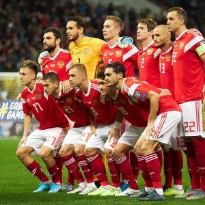 Venäjän jalkapallomaajoukkue kuvassa