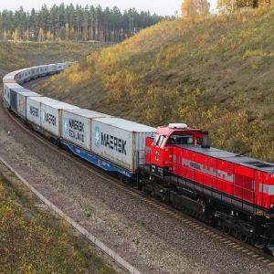 Operail-yhtiö ajaa tavarajunia pääosin Virossa.