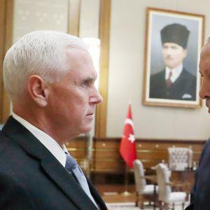 Mike Pence ja  Recep Tayyip Erdoğan