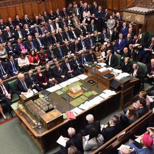 Brexit-istunto parlamenttitalossa Lontoossa 19. lokakuuta.