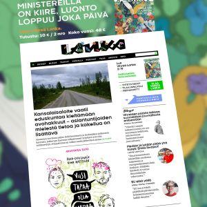Vihreä Lanka nettilehden etusivu