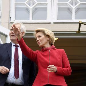 Pääministeri Antti Rinne ja EU-komission tuleva puheenjohtaja Ursula von der Leyen tapasivat Kesärannassa Helsingissä 24. lokakuuta