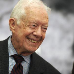 Arkistokuva. Jimmy Carter kuvattuna New Yorkissa 2015.