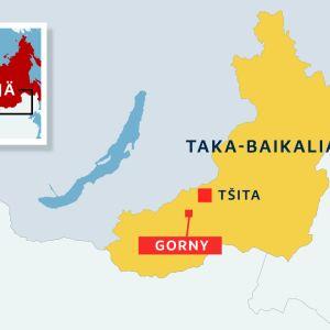 Taka-Baikalin alue Venäjällä, Gornyn ja Tsitan kaupungit