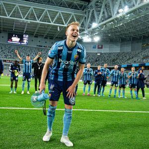 Djurgården on tuore Ruotsin mestari. Kuva syyskuulta tukholmalaisten kotistadionilta.