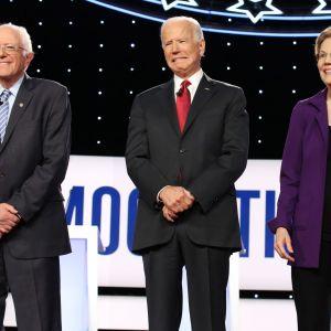 Bernie Sanders, Joe Biden ja Elizabeth Warren ovat tuoreen gallupin mukaan kaikki selvässä johdossa istuvaan presidenttiin Donald Trumpiin nähden.