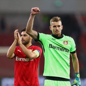 Leverkusenin kaksi sankaria; Kevin Volland ja Lukas Hradecky