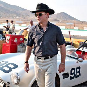 Matt Damon Le Mans 66 -elokuvan kuvauksissa.