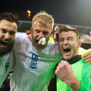 Tim Sparv, Paulus Arajuuri ja Lukas Hradecky