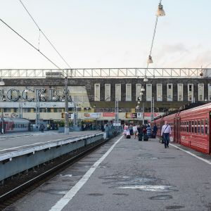 Paveletskyn rautatieasema Moskovassa.