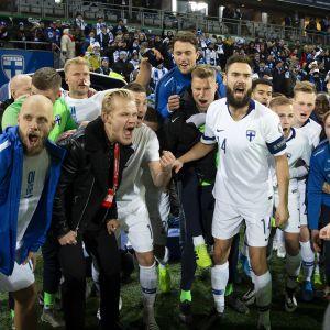 Huuhkajat Liechtenstein-ottelussa 2019