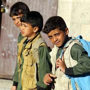 Jemeniläisiä opiskelijoita.