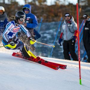 Nella Korpio, FIN during the Alpine Skiing World Cup Women's slalom race at Levi 17. November 2018 in Levi, Finland.