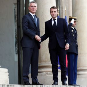 Naton pääsihteeri Jens Stoltenberg tapasi Ranskan presidentin Emmanuel Macronin Pariisissa.
