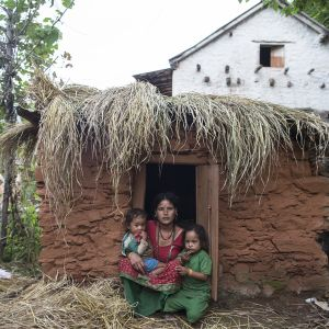 Chaupadi -maja Achamissa Nepalissa.