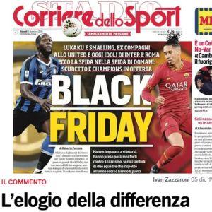 Kuvakaappaus Corriere dello Sportin sivulta