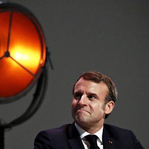 Emmanuel Macron osallistui vuosittaiseen konferenssiin Ranskan meritaloudesta 3. joulukuuta.