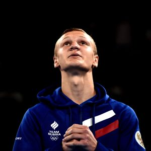 BUENOS AIRES, ARGENTINA - OCTOBER 18: Gold Medalist Ilia Popov of Russia in the podium of Men's Light Welter (64kg) Bronze Medal Bout during day 12 of Buenos Aires 2018 Youth Olympic Games at Oceania Pavilion in the Youth Olympic Park on October 18, 2018 in Buenos Aires, Argentina. (Photo by Amilcar Orfali/Getty Images)