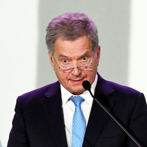 Tasavallan presidentti Sauli Niinistö Suomen ja Baltian kaasuverkostot yhdistävän Balticconnector-kaasuyhdysputken käyttöönottojuhlassa Helsingissä 11. joulukuuta
