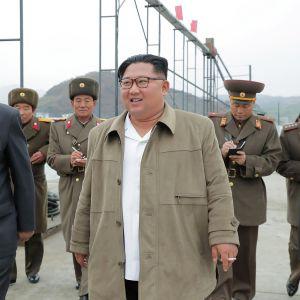Pohjois-Korean uutistoimiston KCNA:n julkaisema kuva Kim Jong-unista.