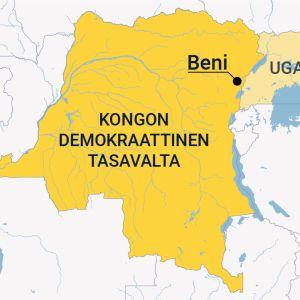 Kongon Demkoraattinen tasavalta -kartta