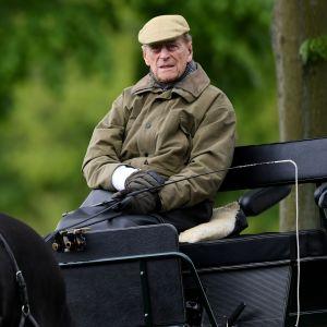 Prinssi Philip hevosvaunujen kyydissä Windsorissa