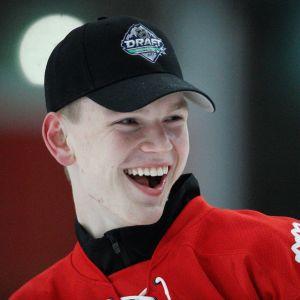 Kanadan nuorten MM-kisapuolustaja Bowen Byram kuvassa