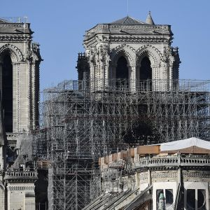 Notre Damen katedraali kuvattuna Pariisissa 24. joulukuuta 2019.