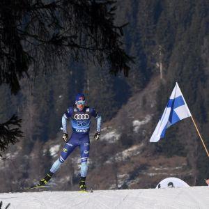Iivo Niskanen oli 11:s Tour de Skin kolmannella etapilla Toblachissa Italiassa.