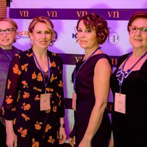 Vaikuttajanaiset-toiminnan ideoineet neljä naista rinnakkain: Virve Heikkinen, Johanna Hylkilä, Pia Kinnunen sekä Ritva Luomala-Björkskog.